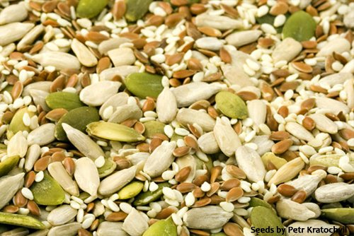 Seeds (around 20g of protein for 100g)