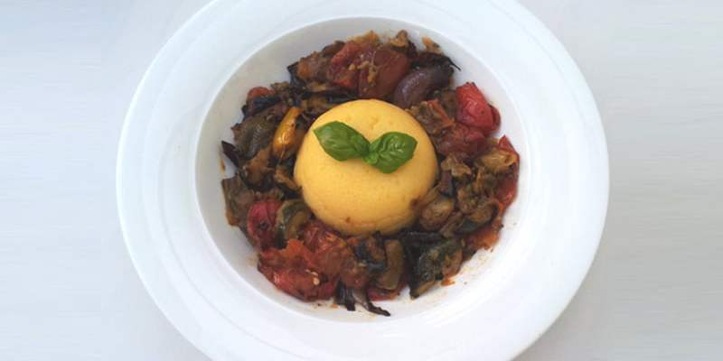 roasted ratatouille smoked polenta