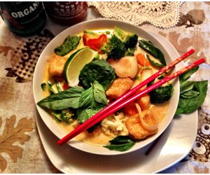 Thai Inspired Red Curry Soup