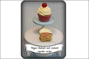 Vegan Rhubarb and custard cupcake recipe