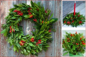 Edible Christmas Wreath and Decoration