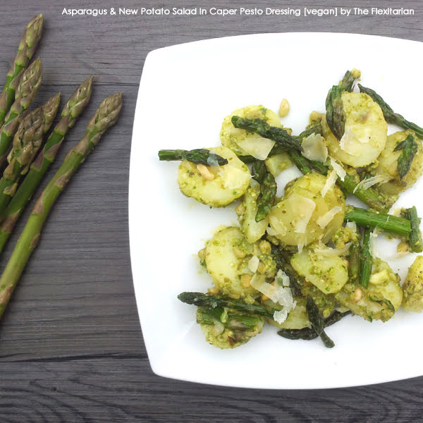 Asparagus & New Potato Salad In Caper Pesto Dressing [vegan] by The Flexitarian