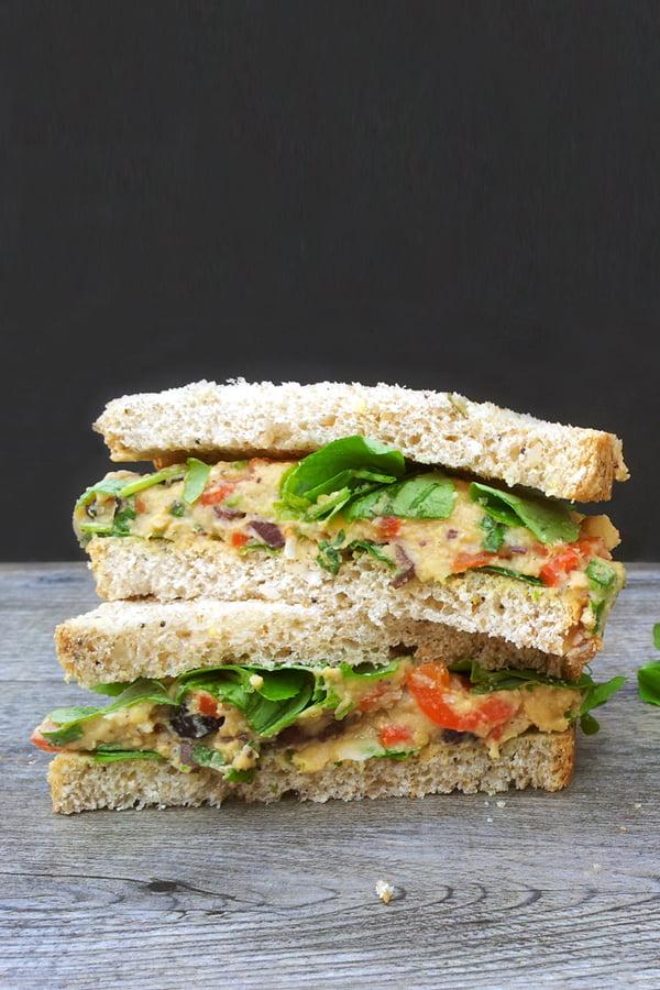 Mediterranean Sandwich [vegan] [sans gluten] © The Flexitarian - Annabelle Randles