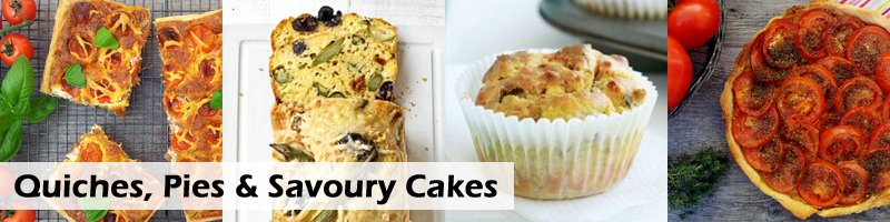 65 Recipes Barbecue Quiches, Pies, Savoury Cakes