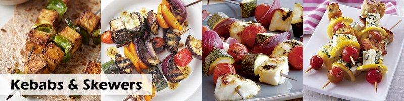 Kebabs & Skewers for vegetarian BBQ