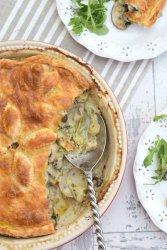Jerusalem Artichoke, Leek & Mushroom Pie [vegetarian] by The Flexitarian