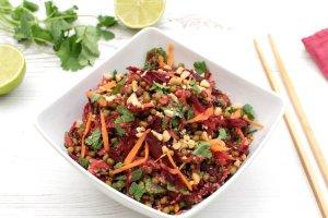 Mung Beans & Amaranth Crunchy Asian Vegan Salad by The Flexitarian
