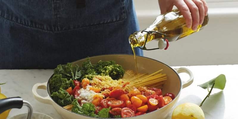 Kale, Tomato and Lemon Magic One-Pot Spaghetti [flexitarian] by Anna Jones