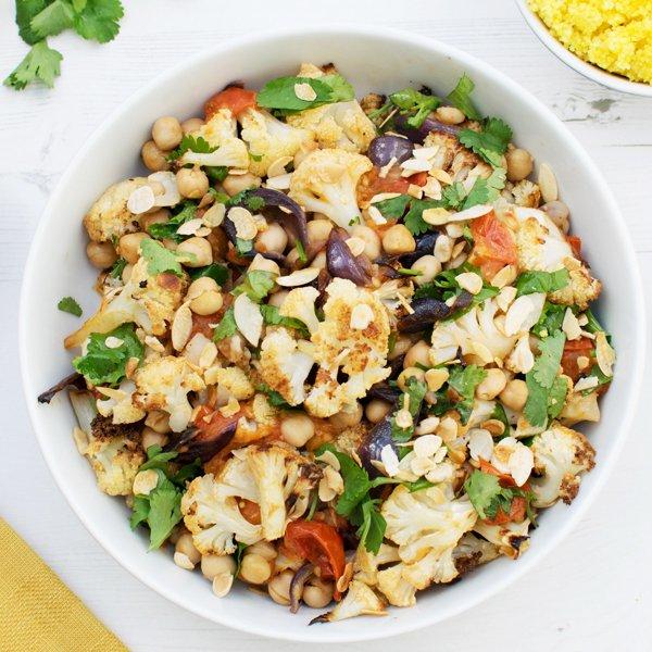 Roasted Cauliflower with Chermoula [vegan] [gluten free]