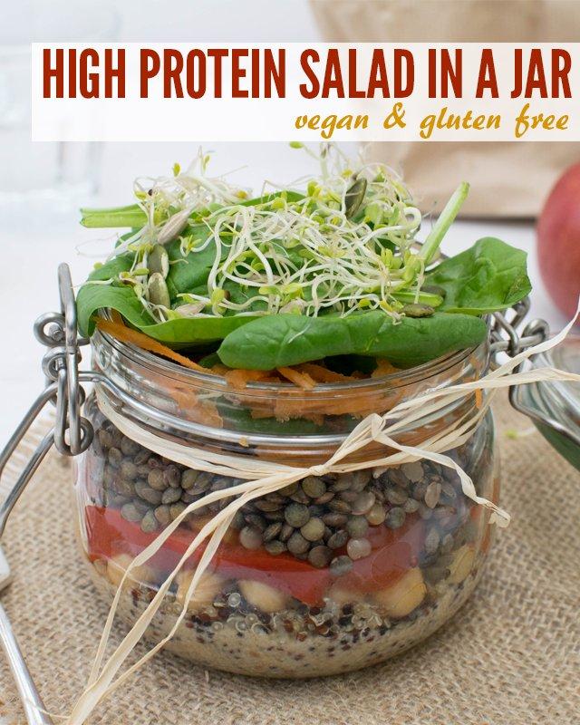 High Protein Salad In A Jar [vegetarian] [gluten free] by The Flexitarian
