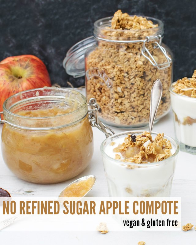Apple Compote With No Refined Sugar [vegan] [gluten free]