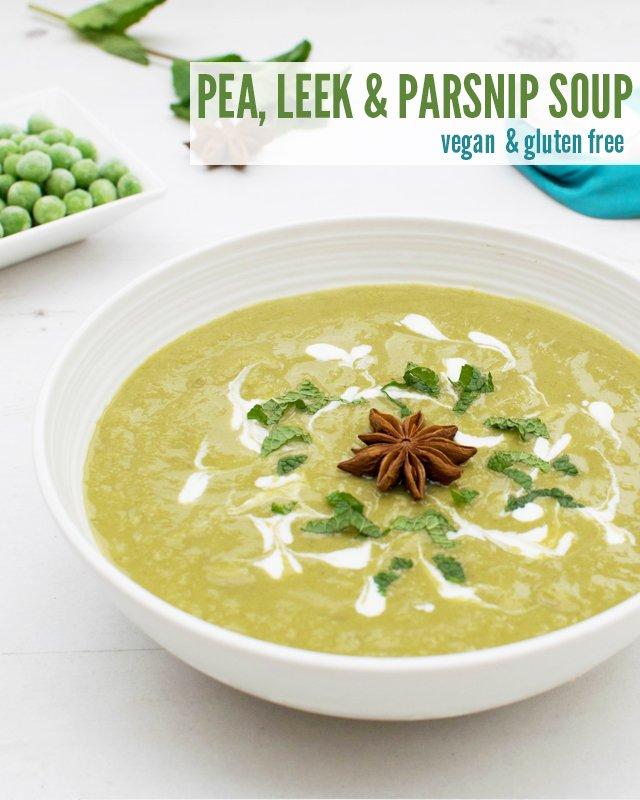 Star Anise Pea, Leek & Parsnip Soup [vegan] [gluten free] by The Flexitarian