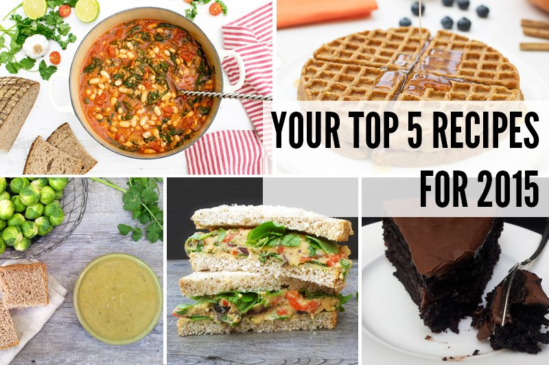 Your Top 5 Recipes For 2015 v800