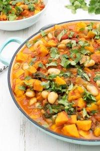 Sweet Potato , Spinach & Butter Bean Stew [vegan] [gluten free] by The Flexitarian