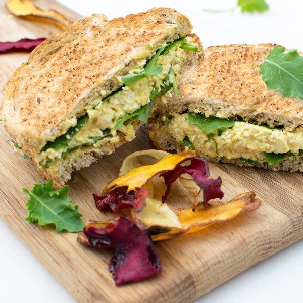 """The No-Egg"" Egg Sandwich [vegan] by The Flexitarian"