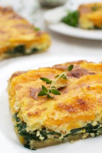 Butternut, Spinach & Goat Cheese Quiche [vegetarian] by The Flexitarian
