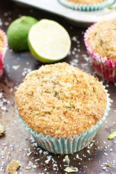 Courgette, Coconut & Lime Muffins [vegan] by The Flexitarian