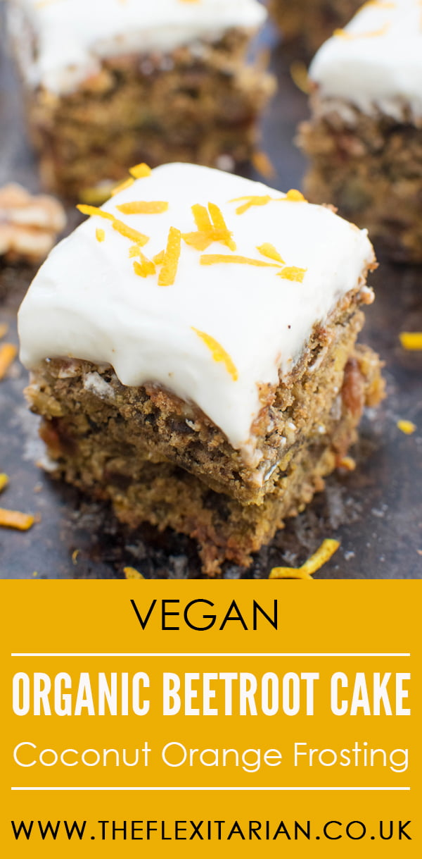Organic Beetroot Cake with Coconut Orange Frosting [vegan] by The Flexitarian