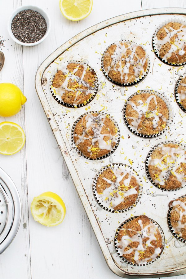 Lemon & Chia Seed Muffins [vegan]