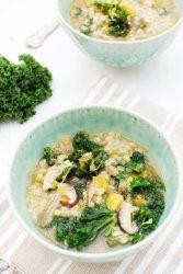 Miso Barley Soup with Leek, Shiitake and Kale [vegan] by The Flexitarian