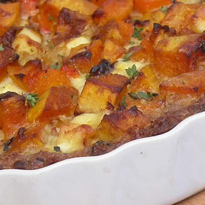 Butternut and Feta Quiche with Wholewheat Breadcrumb Crust [vegetarian] by Ina Paarman Kitchen