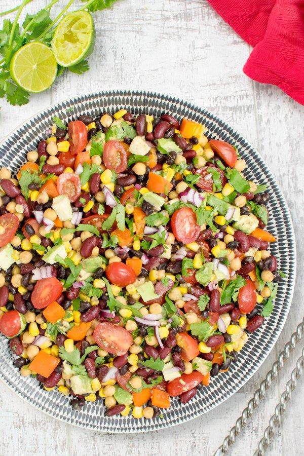 3 Bean Avocado Salad [vegan] by The Flexitarian