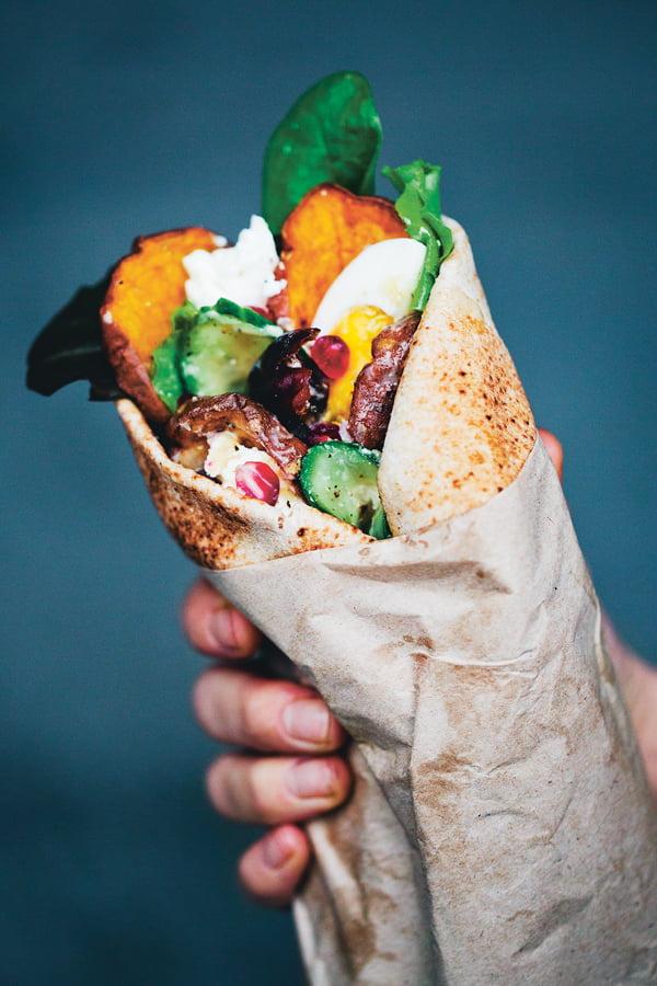 Middle Eastern Sweet Potato Wraps [vegetarian] by Green Kitchen Stories