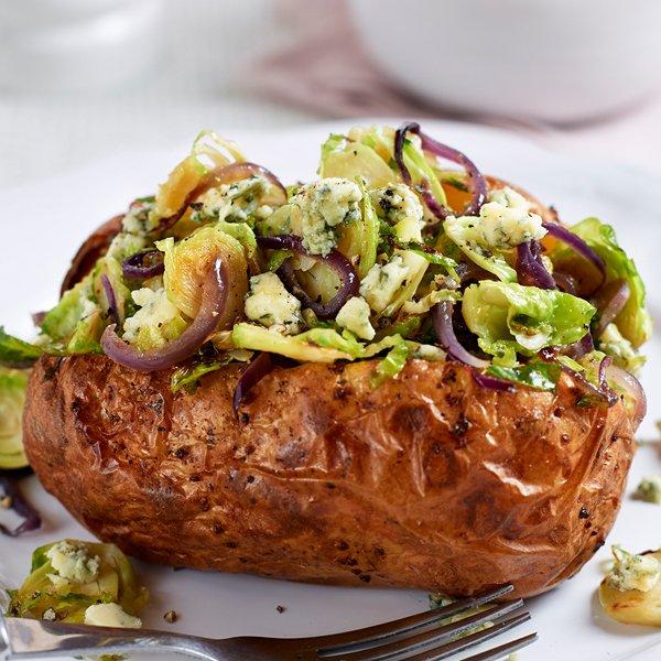 Jacket Potato Recipe for Christmas Leftovers [vegetarian] by Love Potatoes
