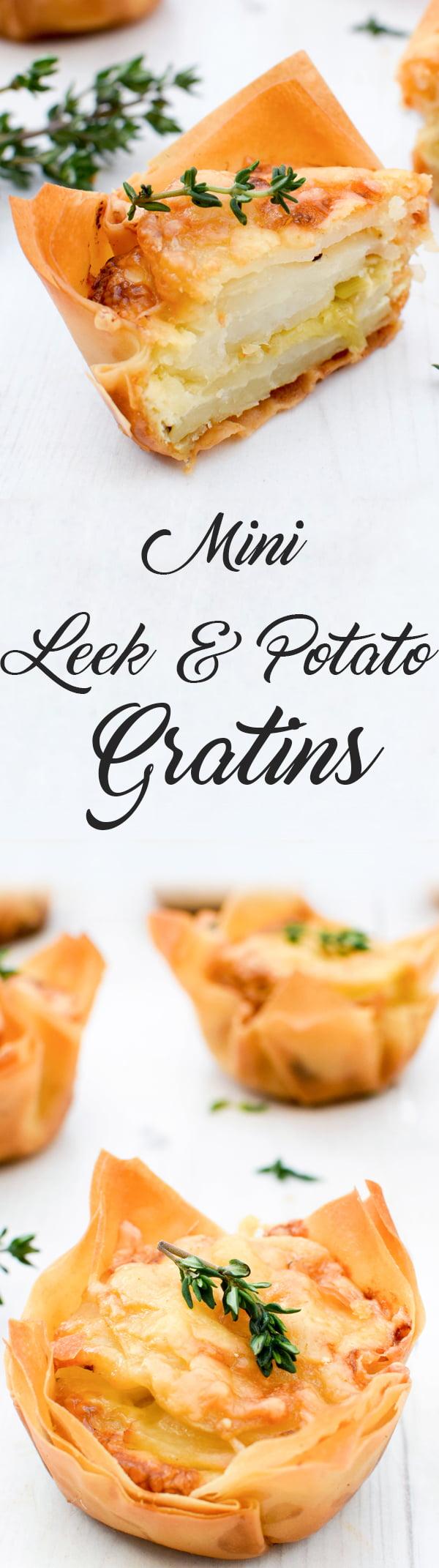 Mini Leek & Potato Gratins [vegetarian] by The Flexitarian