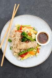 Crispy Sesame Tofu [vegan] by The Flexitarian