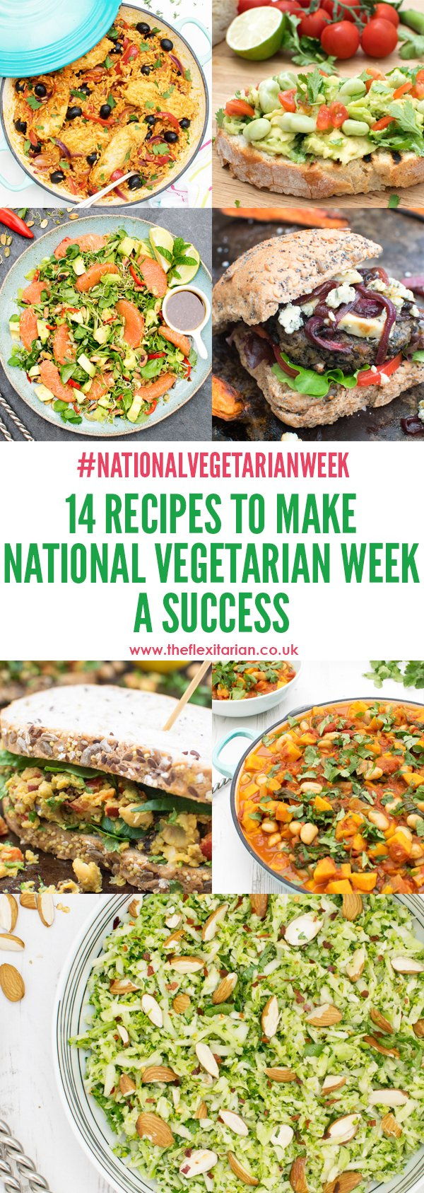 14 Recipes To Make This National Vegetarian Week A Success by The Flexitarian