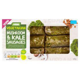 Asda Vegetarian & Vegan 6 Mushroom & Kale Sausages