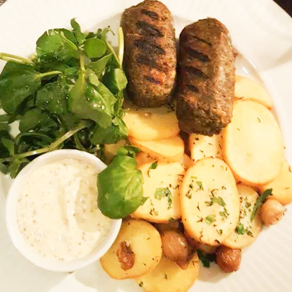 Sausages with Salardaise Potatoes