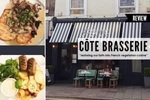 Cote Brasserie Vegetarian Menu