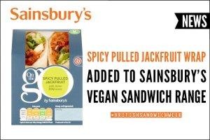 Spicy Pulled Jackfruit Wrap Added To Sainsbury's Vegan Sandwich Range
