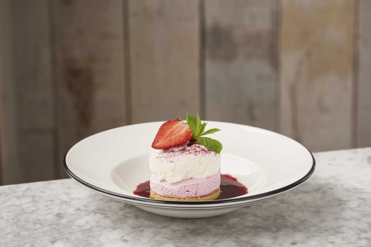 Pizza Express summer Menu Limoncello & Blackcurrant Semifreddo