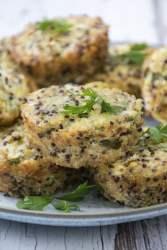 Caulifower & Quinoa Bites [vegetarian] [gluten free] 2019 © Annabelle Randles The Flexitarian