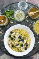 Golden Overnight Porridge [vegan] [gluten free] by The Flexitarian