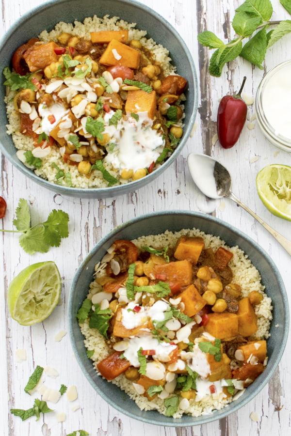 Sweet Potato & Chickpea Moroccan Stew [vegan] 2019 © Annabelle Randles The Flexitarian