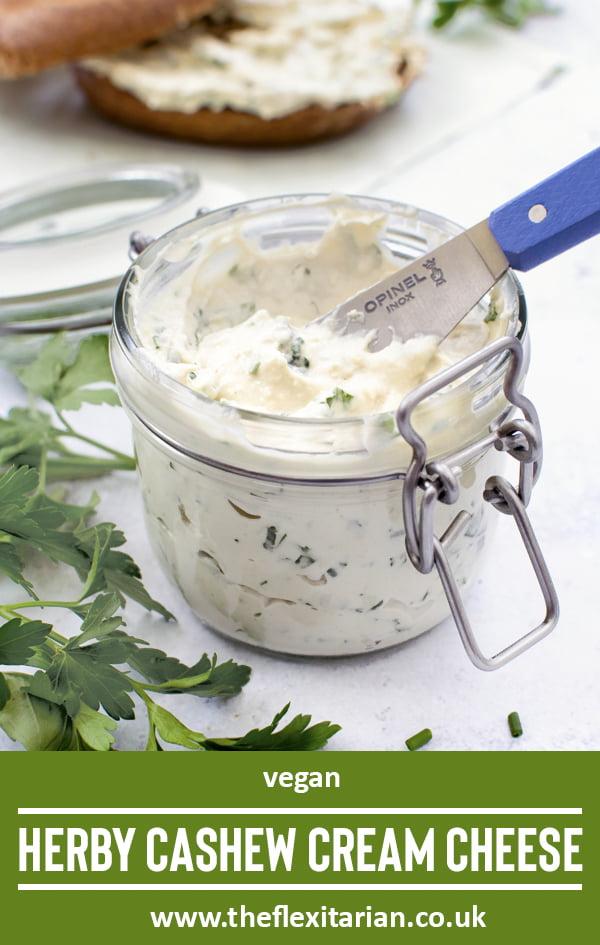 Herby Cashew Cream Cheese [vegan] 2020 © The Flexitarian