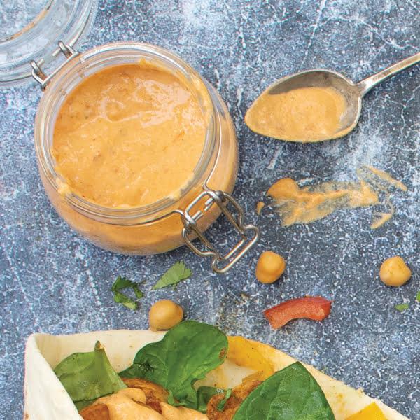 Sweet Potato Wraps with Tahini Harissa Dressing [vegan]