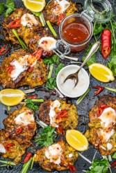Courgette & Corn Fritters [vegan]   The Flexitarian