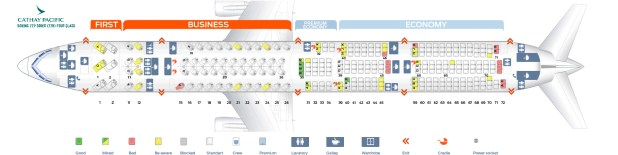 Seat Map Boeing 777 300er Four Class Cathay Pacific