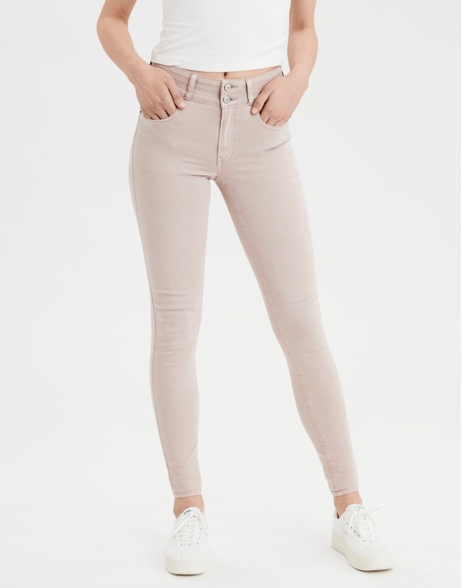 american eagle blush skinnies skinny jeans spring jeans