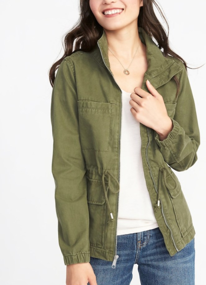 old navy military utility jacket green army jacket parka