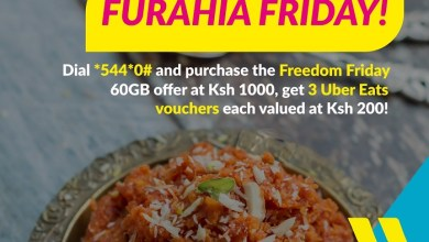 Purchase Telkom Kenya's Freedom Friday Bundle and Get Free UberEats Vouchers