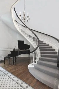 Flooring Trends For 2020 Real Trends For Real People The   Vinyl And Carpet Stairs   Thin   Indoor   Light   Low Pile   Laminate