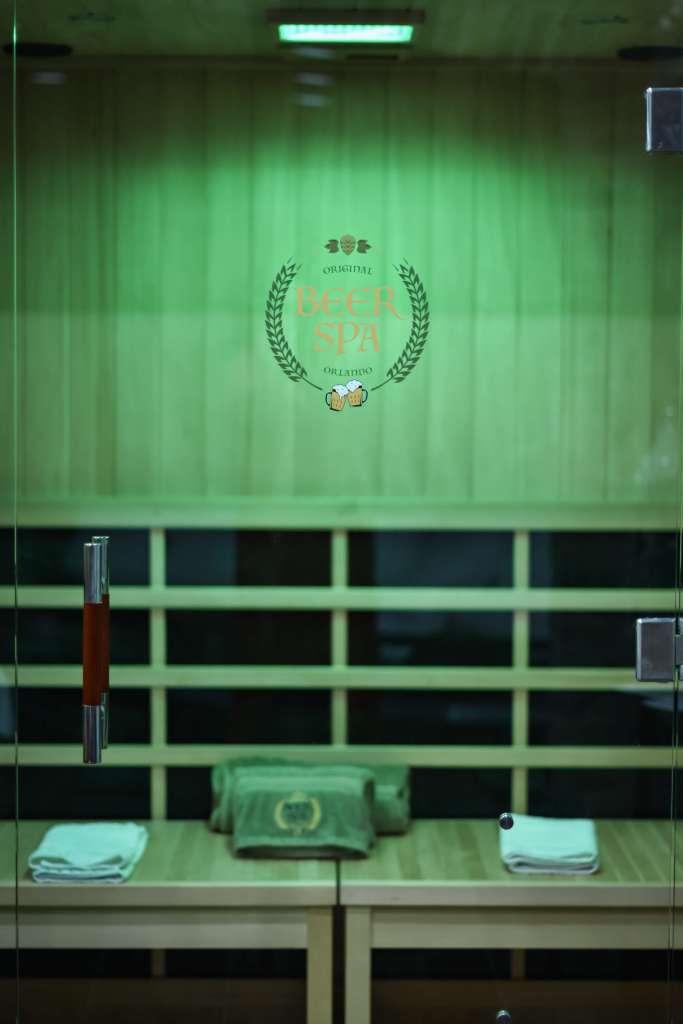 Infrared sauna inside the spa