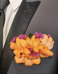 Prom Boutonniere on Suit