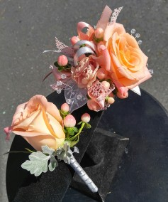 Prom Flowers Peach The Flower Diva